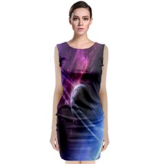 Space Pelanet Saturn Galaxy Classic Sleeveless Midi Dress by AnjaniArt