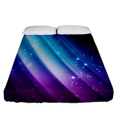 Space Purple Blue Fitted Sheet (queen Size) by AnjaniArt