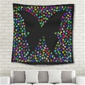 Space Butterflies Square Tapestry (Large) View2