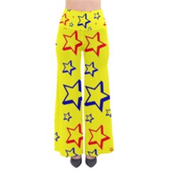Star Yellow Red Blue Pants by AnjaniArt