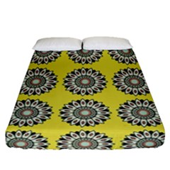 Sunflower Fitted Sheet (queen Size) by AnjaniArt