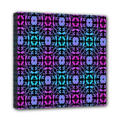 Star Flower Background Pattern Colour Mini Canvas 8  X 8  by AnjaniArt