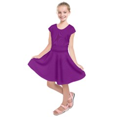 Stripy Purple Kids  Short Sleeve Dress by AnjaniArt