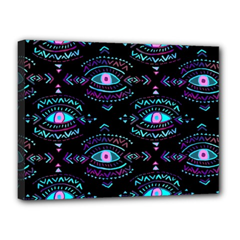 Third Eye Purple Canvas 16  X 12  by AnjaniArt