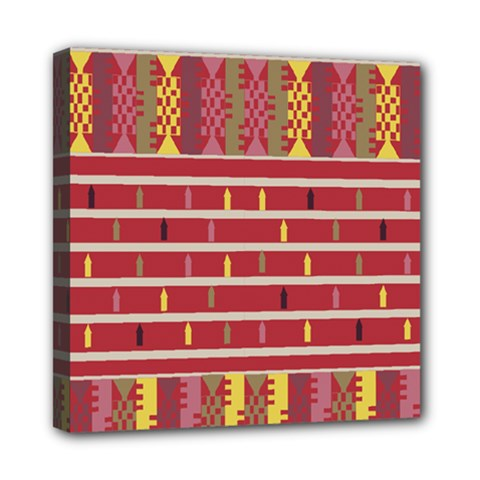 Woven Fabric Pink Mini Canvas 8  X 8  by AnjaniArt