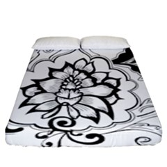 Free Floral Decorative Fitted Sheet (king Size) by AnjaniArt