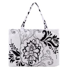 Free Floral Decorative Medium Zipper Tote Bag by AnjaniArt