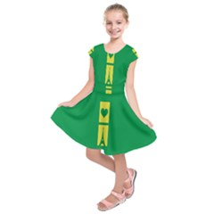 Heart Love Paris Eiffel Tower Perancis Kids  Short Sleeve Dress