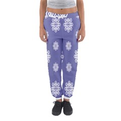 Geometric Snowflake Retro Purple Women s Jogger Sweatpants by AnjaniArt