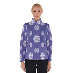Geometric Snowflake Retro Purple Winterwear by AnjaniArt