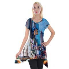 New York City Short Sleeve Side Drop Tunic by Onesevenart