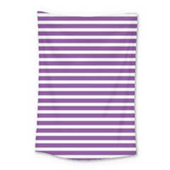 Horizontal Stripes Purple Small Tapestry by AnjaniArt