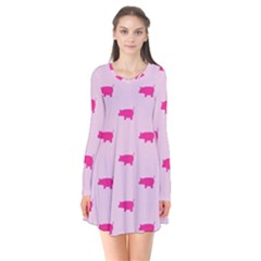 Pig Pink Animals Flare Dress by AnjaniArt