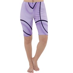 Purple Background With Ornate Metal Criss Crossing Lines Cropped Leggings  by AnjaniArt