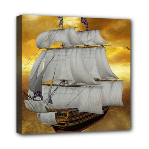 Pirate Ship Mini Canvas 8  X 8  by Onesevenart