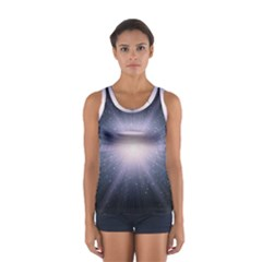 Real Photographs In Saturns Rings Women s Sport Tank Top