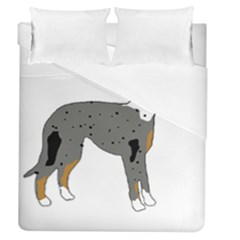 Catahoula Leopard Dog Silo Color Duvet Cover (Queen Size) by TailWags