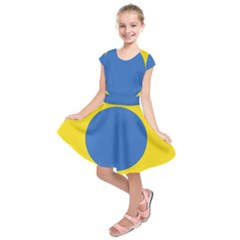 Ukrainian Air Force Roundel Kids  Short Sleeve Dress by abbeyz71
