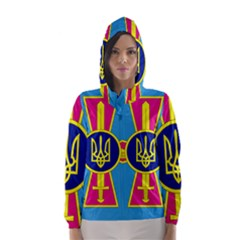 Ensign of The Ukrainian Air Force Hooded Wind Breaker (Women) by abbeyz71