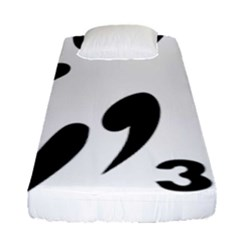 3 On 3 Basketball Pictogram Fitted Sheet (single Size) by abbeyz71