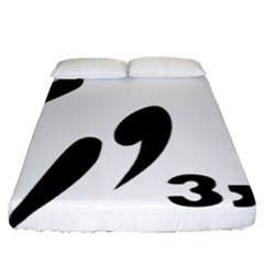 3 On 3 Basketball Pictogram Fitted Sheet (queen Size) by abbeyz71