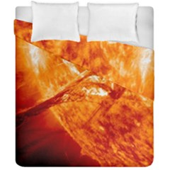 Spectacular Solar Prominence Duvet Cover Double Side (california King Size) by Onesevenart