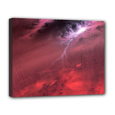 Storm Clouds And Rain Molten Iron May Be Common Occurrences Of Failed Stars Known As Brown Dwarfs Canvas 14  X 11  by Onesevenart