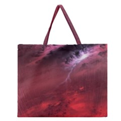 Storm Clouds And Rain Molten Iron May Be Common Occurrences Of Failed Stars Known As Brown Dwarfs Zipper Large Tote Bag by Onesevenart