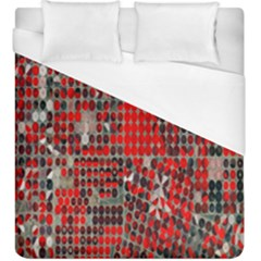 Red Circle Duvet Cover (king Size) by AnjaniArt