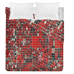 Red Circle Duvet Cover Double Side (queen Size) by AnjaniArt