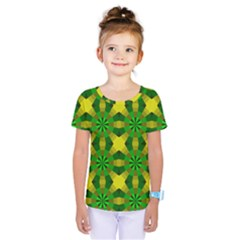 Background Colour Circle Yellow Green Kids  One Piece Tee