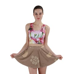 Bread Cake Brown Mini Skirt by AnjaniArt