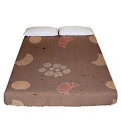 Bread Cake Brown Fitted Sheet (california King Size) by AnjaniArt