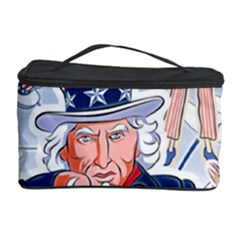 United States Of America Celebration Of Independence Day Uncle Sam Cosmetic Storage Case by Onesevenart