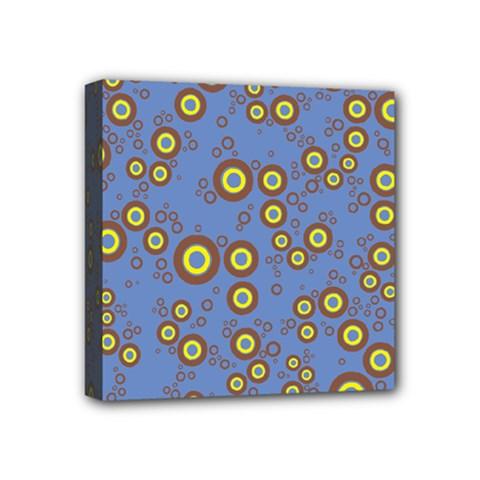 Circle Purple Yellow Mini Canvas 4  X 4  by AnjaniArt
