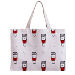 Coffee Cup Glass Zipper Mini Tote Bag by AnjaniArt