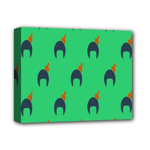 Comb Disco Green Deluxe Canvas 14  X 11  by AnjaniArt