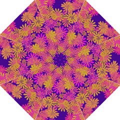 Floral Pattern Purple Rose Golf Umbrellas by AnjaniArt
