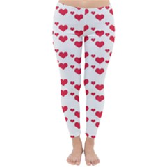 Heart Love Pink Valentine Day Classic Winter Leggings by AnjaniArt