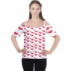 Heart Love Pink Valentine Day Women s Cutout Shoulder Tee by AnjaniArt