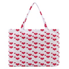 Heart Love Pink Valentine Day Medium Zipper Tote Bag by AnjaniArt