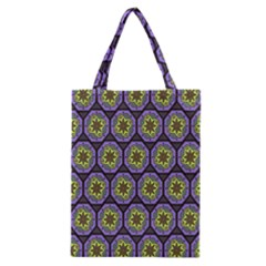 Background Colour Star Flower Purple Yellow Classic Tote Bag