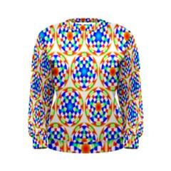 Background Colour Circle Rainbow Women s Sweatshirt by AnjaniArt