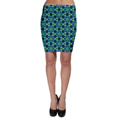 Background Star Colour Green Blue Bodycon Skirt by AnjaniArt