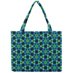 Background Star Colour Green Blue Mini Tote Bag by AnjaniArt