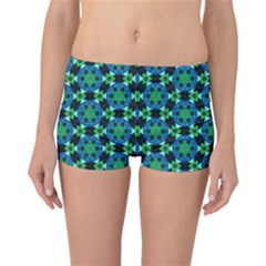 Background Star Colour Green Blue Reversible Bikini Bottoms by AnjaniArt