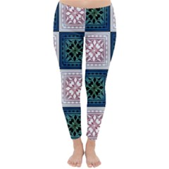 Background Colour Flower Box Classic Winter Leggings by AnjaniArt