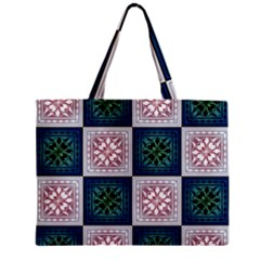 Background Colour Flower Box Zipper Mini Tote Bag by AnjaniArt