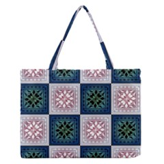 Background Colour Flower Box Medium Zipper Tote Bag by AnjaniArt