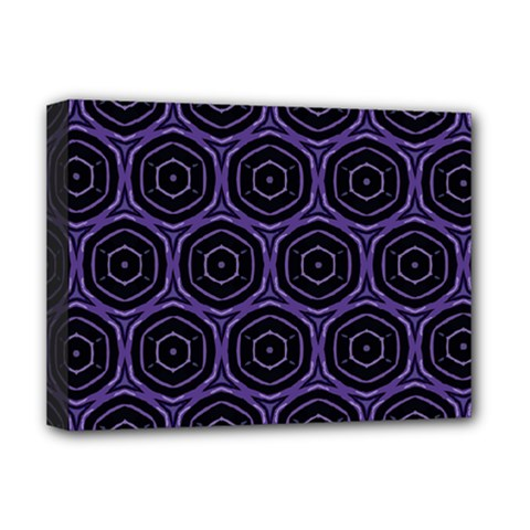 Background Colour Purple Circle Deluxe Canvas 16  X 12   by AnjaniArt
